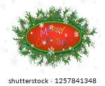 christmas 3d pine tree branches ... | Shutterstock . vector #1257841348