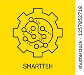 smart technology. vector icon.... | Shutterstock .eps vector #1257852718