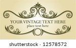 vintage frame. vector...