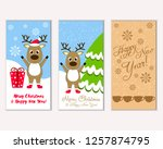 merry christmas and happy new... | Shutterstock .eps vector #1257874795