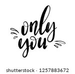 only you lettering background.... | Shutterstock .eps vector #1257883672