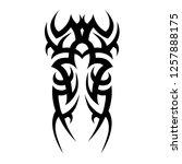 tribal pattern tattoo  vector | Shutterstock .eps vector #1257888175