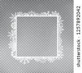 snowflakes square frame... | Shutterstock .eps vector #1257892042