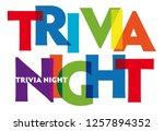 trivia night. vector... | Shutterstock .eps vector #1257894352