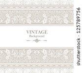 vintage background  elegance... | Shutterstock .eps vector #125789756