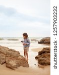 the concept of a beach holiday... | Shutterstock . vector #1257903232