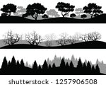 set of different silhouettes of ... | Shutterstock .eps vector #1257906508