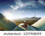 happy engineer feel success... | Shutterstock . vector #1257908395