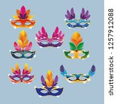 mari gras masks | Shutterstock .eps vector #1257912088