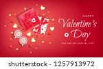 happy valentine's day flyer ...   Shutterstock .eps vector #1257913972