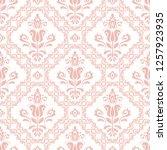 orient vector classic pink... | Shutterstock .eps vector #1257923935