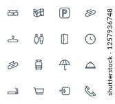 direction icons line style set... | Shutterstock .eps vector #1257936748