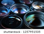 group of camera lenses with... | Shutterstock . vector #1257951535