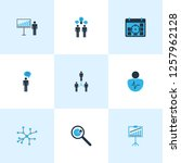 board icons colored set with...   Shutterstock .eps vector #1257962128