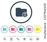 delete directory flat color... | Shutterstock .eps vector #1257964105