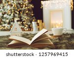 christmas decor in the house | Shutterstock . vector #1257969415