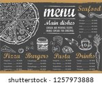 restaurant cafe menu  template... | Shutterstock .eps vector #1257973888