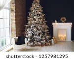 christmas decor in the house | Shutterstock . vector #1257981295