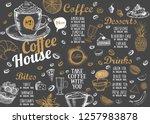 coffee house menu. restaurant... | Shutterstock .eps vector #1257983878