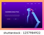 business analytics   modern... | Shutterstock .eps vector #1257984922