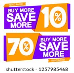 buy more and save more  sale... | Shutterstock .eps vector #1257985468