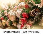 christmas tree background   Shutterstock . vector #1257991282