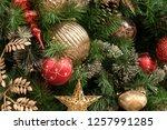christmas tree background   Shutterstock . vector #1257991285