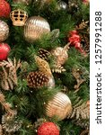christmas tree background   Shutterstock . vector #1257991288