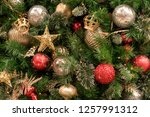 christmas tree background | Shutterstock . vector #1257991312
