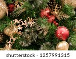 christmas tree background | Shutterstock . vector #1257991315