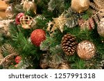 christmas tree background | Shutterstock . vector #1257991318