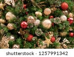 christmas tree background | Shutterstock . vector #1257991342