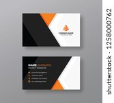 stylish business card template... | Shutterstock .eps vector #1258000762
