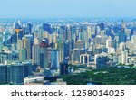 aerial view of downtown bangkok ...   Shutterstock . vector #1258014025