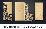 christmas greeting card design... | Shutterstock .eps vector #1258019428