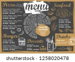 restaurant cafe menu  template... | Shutterstock .eps vector #1258020478