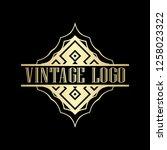 luxury antique art deco golden... | Shutterstock .eps vector #1258023322