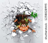 3d Background  Little Monkey...