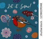 winter holiday  invitation card ... | Shutterstock .eps vector #1258039048