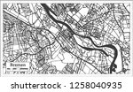 bremen germany city map in... | Shutterstock .eps vector #1258040935