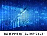 2d rendering stock market...   Shutterstock . vector #1258041565