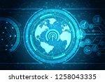 2d illustration wifi symbol | Shutterstock . vector #1258043335