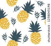 fresh pineapples vector repeat...   Shutterstock .eps vector #1258045198
