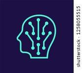 human head with neural...   Shutterstock .eps vector #1258055515