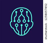 artificial intelligence line...   Shutterstock .eps vector #1258057852
