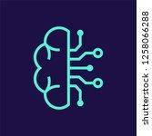 artificial intelligence vector...   Shutterstock .eps vector #1258066288