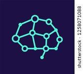 artificial intelligence vector... | Shutterstock .eps vector #1258071088