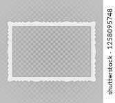 blank photo frames with shadow... | Shutterstock .eps vector #1258095748