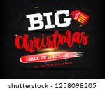 merry christmas with red... | Shutterstock .eps vector #1258098205