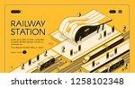 railroad transport company... | Shutterstock .eps vector #1258102348